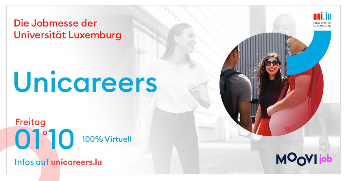 Unicareers – die Messe für Studierende und BerufsanfängerInnen online, am 1. Oktober