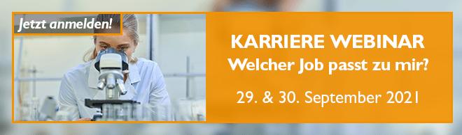 Webinar: Berufsorientierung für Naturwissenschaftler* am 29. & 30. September 2021