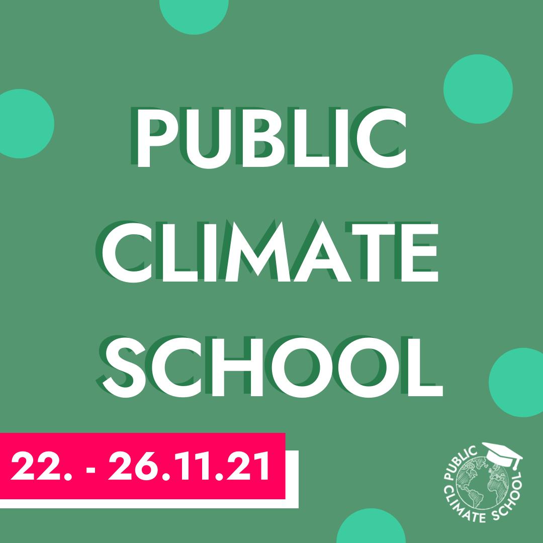 Public Climate School vom 22.-26.11.